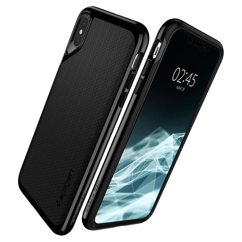 Spigen Neo Hybrid iPhone XS Max Hoesje Jet Black 06