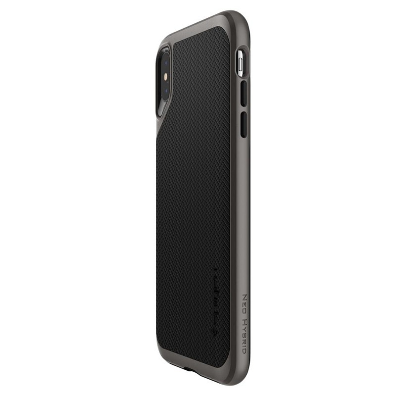 Spigen Neo Hybrid iPhone XS Max Hoesje Gunmetal 06