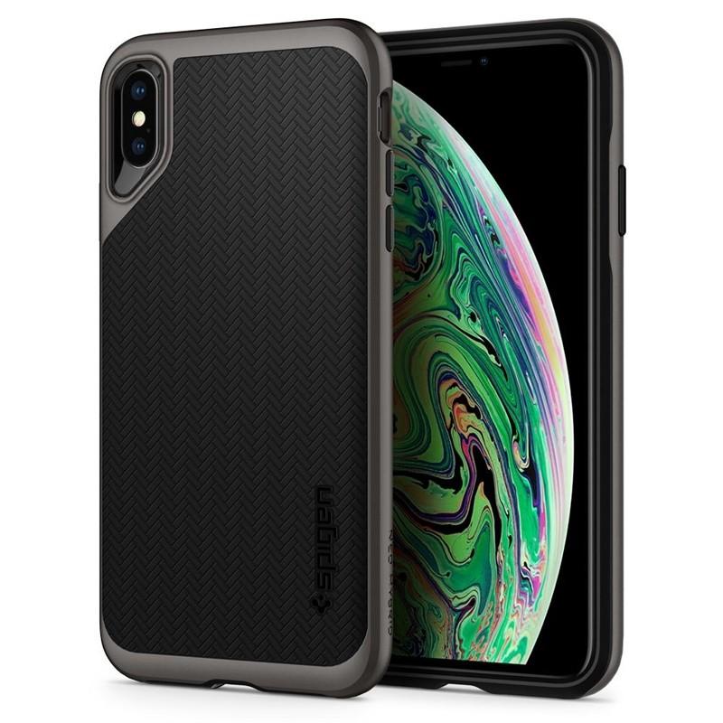 Spigen Neo Hybrid iPhone XS Max Hoesje Gunmetal 09