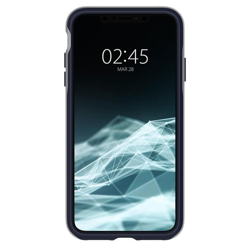 Spigen Neo Hybrid iPhone XS Max Hoesje Satin SIlver 02