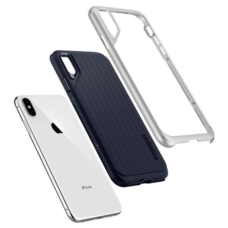 Spigen Neo Hybrid iPhone XS Max Hoesje Satin SIlver 03
