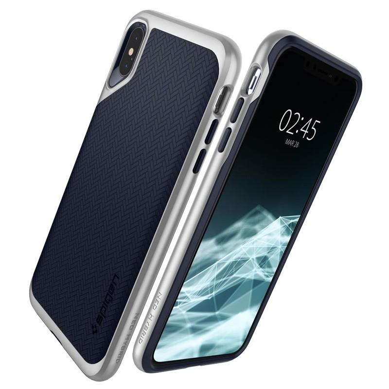 Spigen Neo Hybrid iPhone XS Max Hoesje Satin SIlver 06