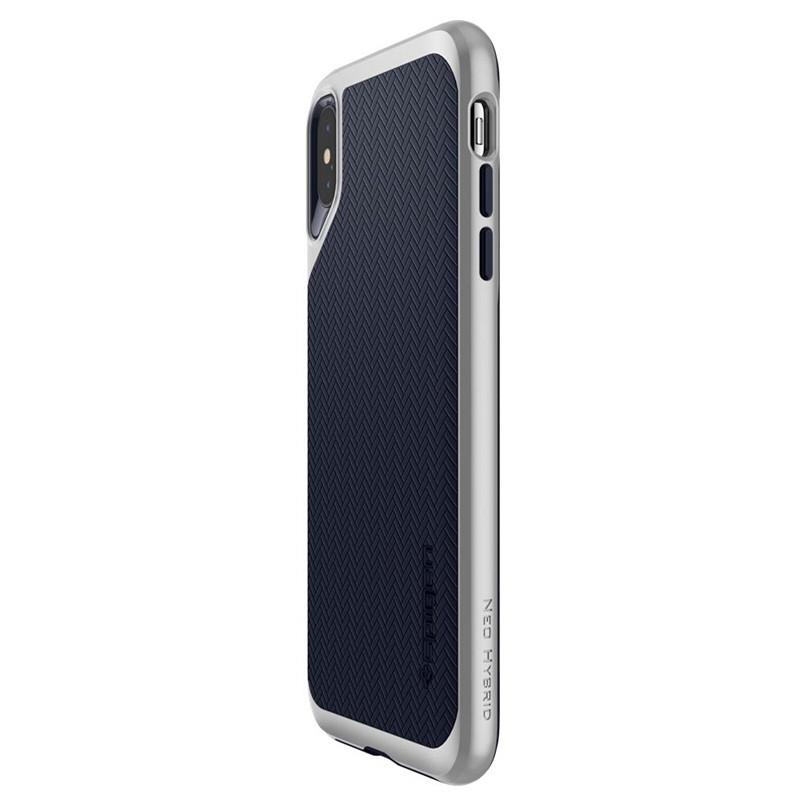 Spigen Neo Hybrid iPhone XS Max Hoesje Satin SIlver 05