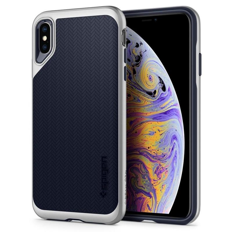 Spigen Neo Hybrid iPhone XS Max Hoesje Satin SIlver 09