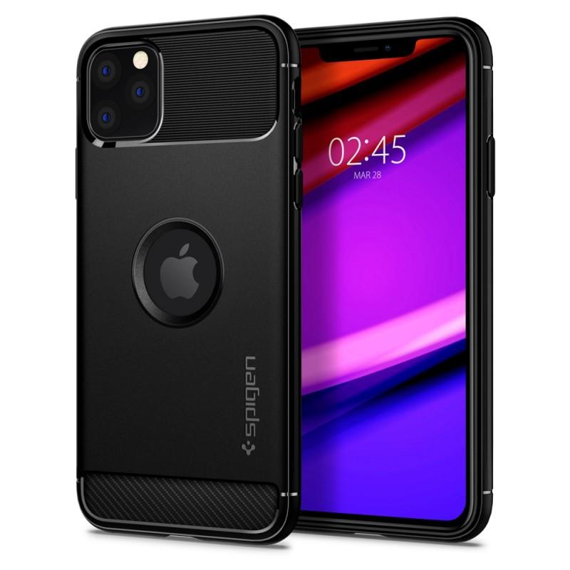 Spigen Rugged Armor Case iPhone 11 Pro Max Zwart - 1