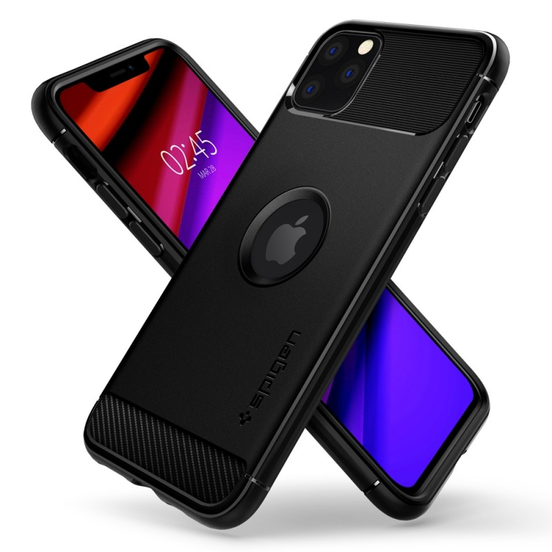 Spigen Rugged Armor Case iPhone 11 Pro Zwart - 5
