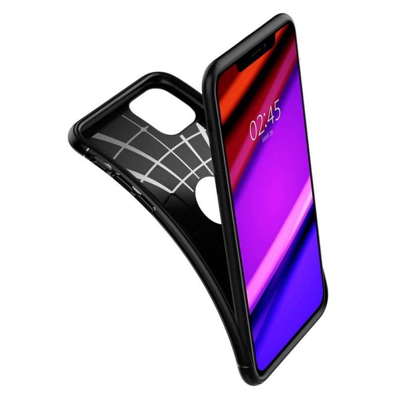 Spigen Rugged Armor Case iPhone 11 Pro Zwart - 6