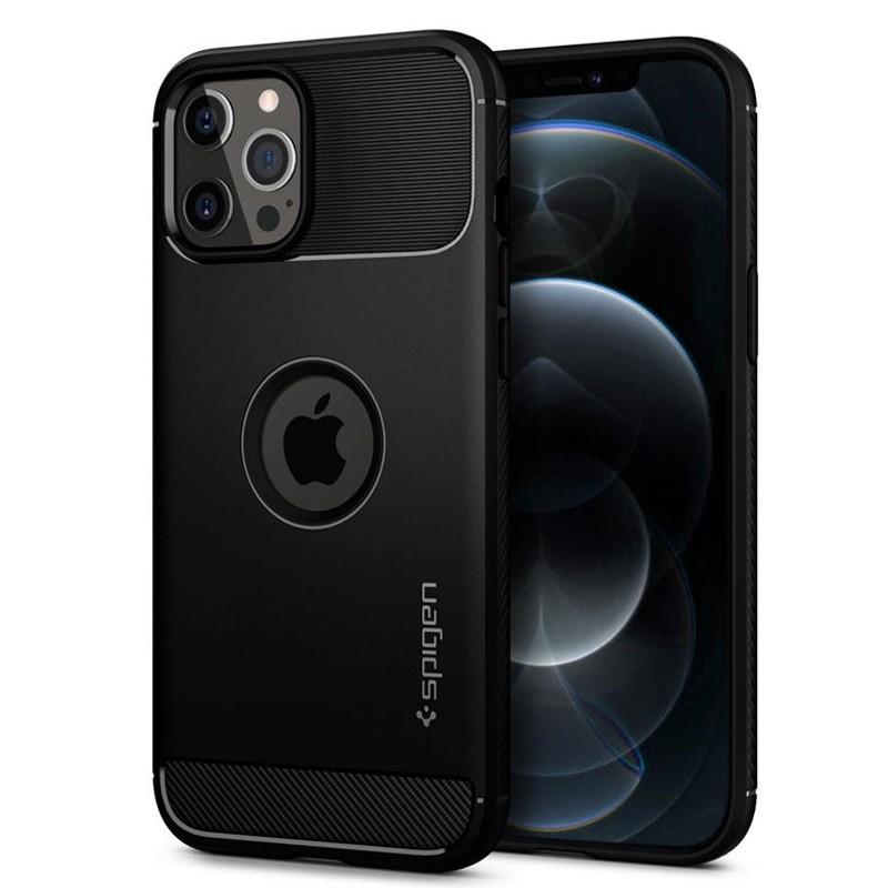 Spigen - Rugged Armor iPhone 12 / iPhone 12 Pro 6.1 inch zwart 01