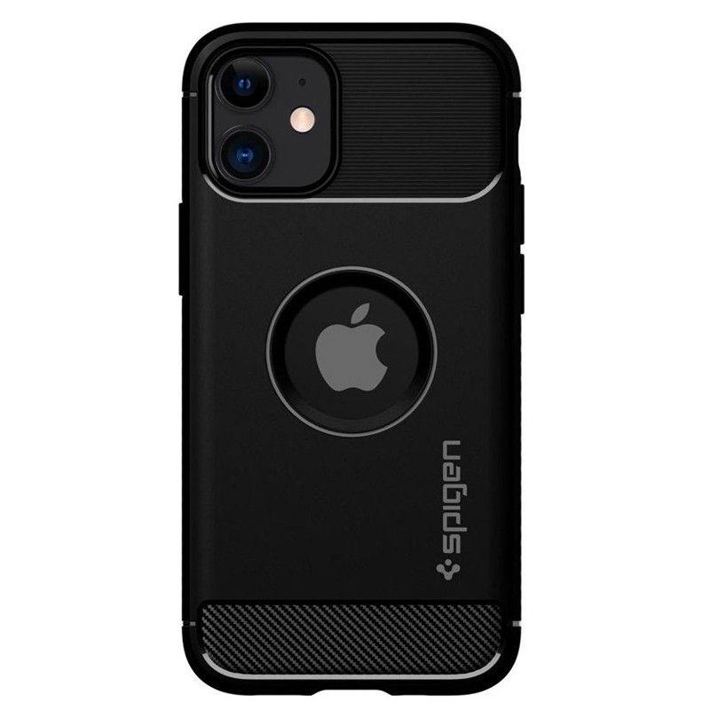 Spigen - Rugged Armor iPhone 12 Mini 5.4 inch zwart 02