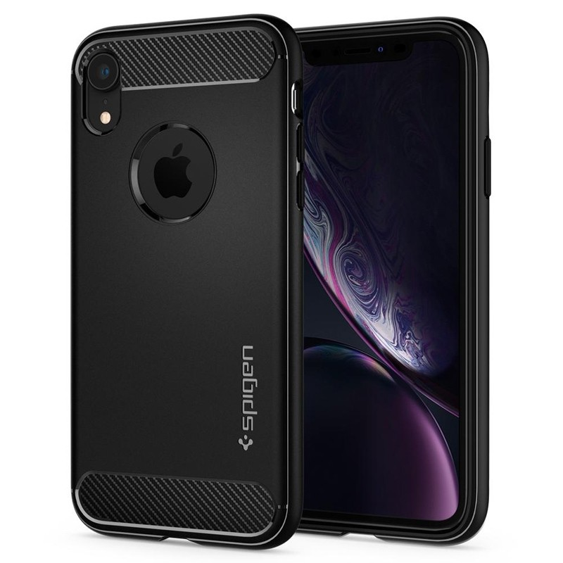 Spigen Rugged Armor iPhone XR Hoesje Zwart 04