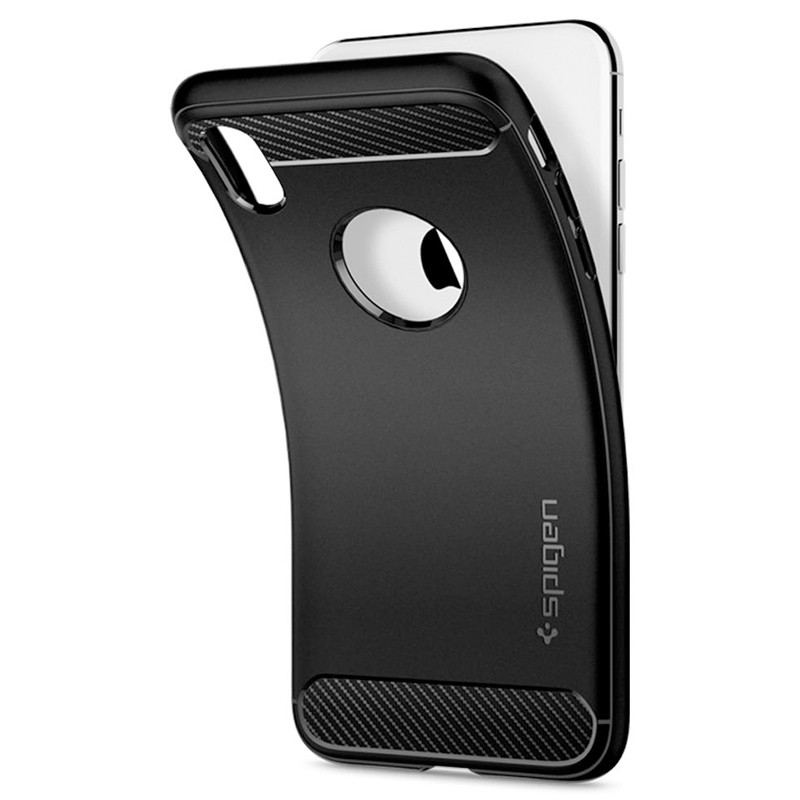 Spigen Rugged Armor iPhone XR Hoesje Zwart 06