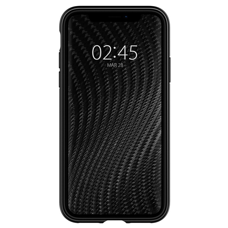 Spigen Rugged Armor Hoesje iPhone XS Max Zwart 02