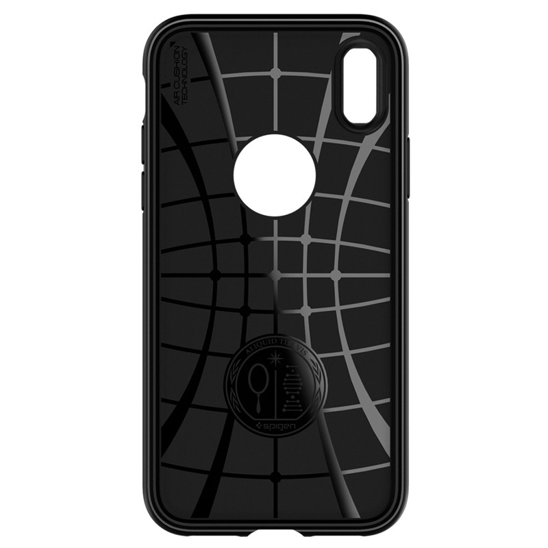 Spigen Rugged Armor Hoesje iPhone XS Max Zwart 06
