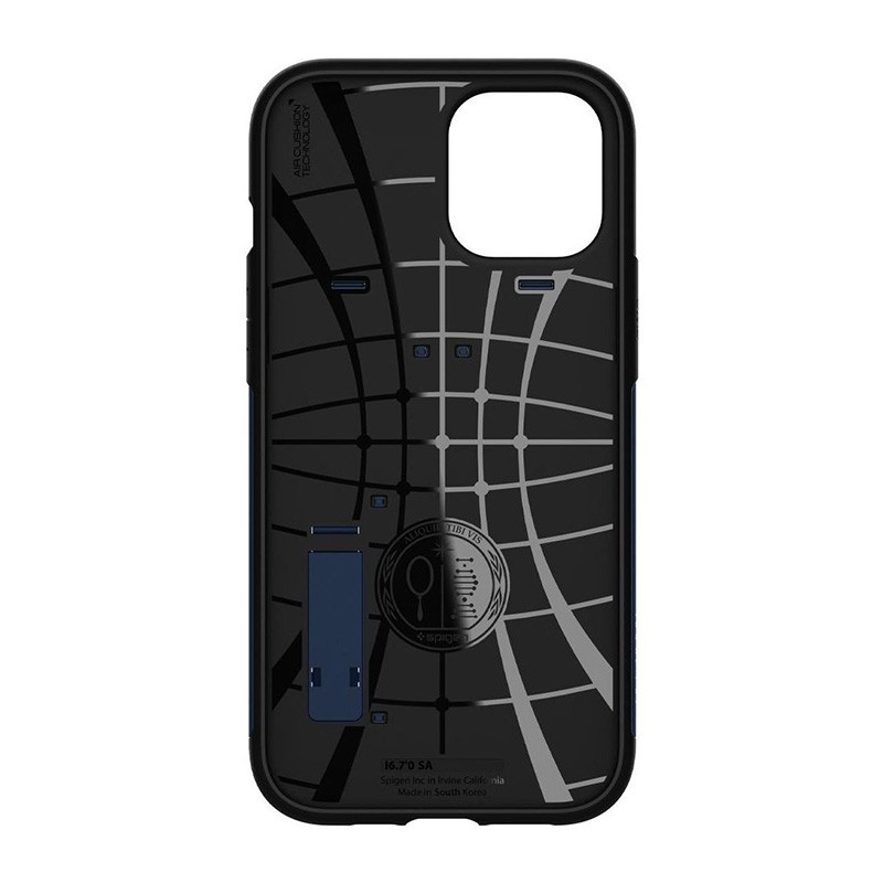 Spigen Slim Armor iPhone 12 Pro Max 6.7 inch Blauw 06