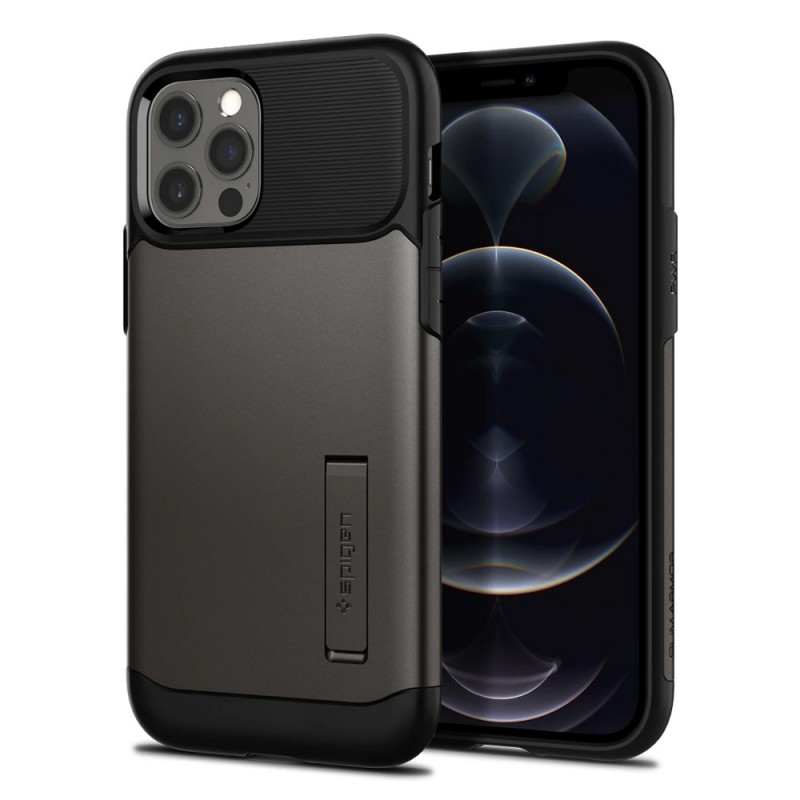 Spigen Slim Armor Case iPhone 12 / 12 Pro Gunmetal - 1