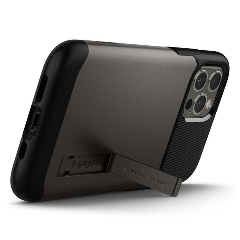 Spigen Slim Armor Case iPhone 12 / 12 Pro Gunmetal - 4