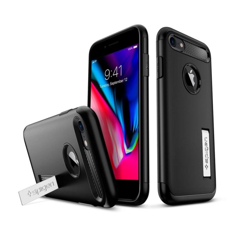 Spigen Slim Armor Case Phone 8/7 Zwart - 2