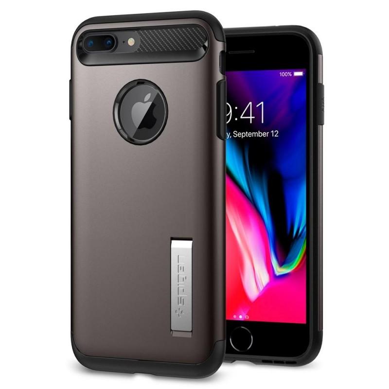 Spigen Slim Armor Case iPhone 8 Plus/7 Plus Gunmetal - 1