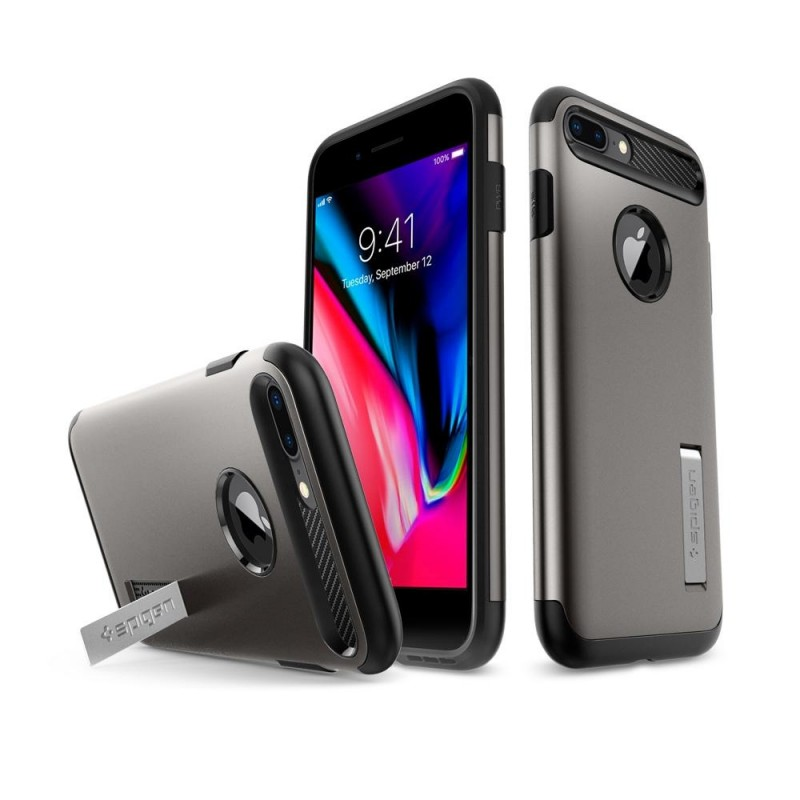 Spigen Slim Armor Case iPhone 8 Plus/7 Plus Gunmetal - 4