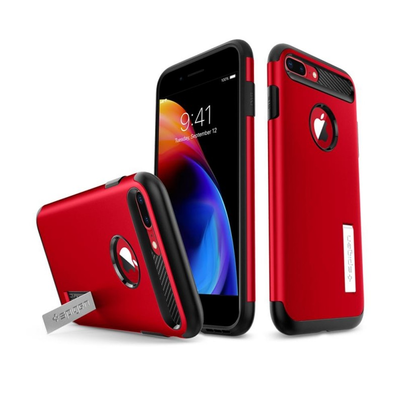 Spigen Slim Armor Case iPhone 8 Plus/7 Plus Rood - 2