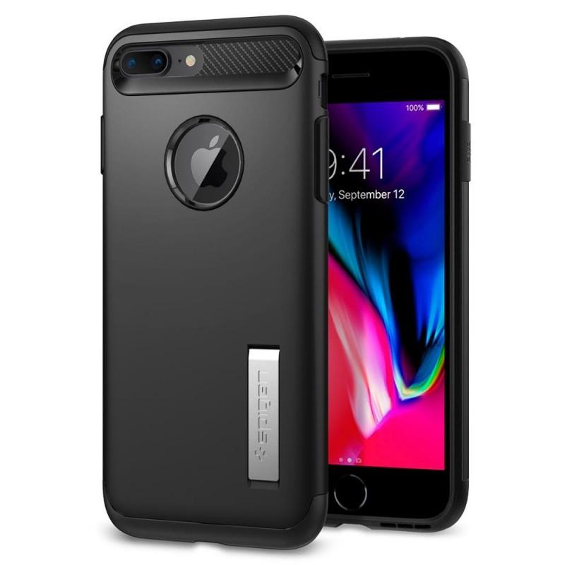 Spigen Slim Armor Case iPhone 8 Plus/7 Plus Zwart - 1