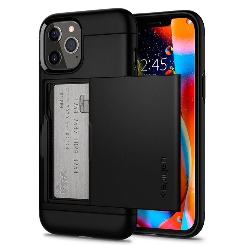 Spigen - Slim Armor CS iPhone 12 / iPhone 12 Pro 6.1 inch zwart 01
