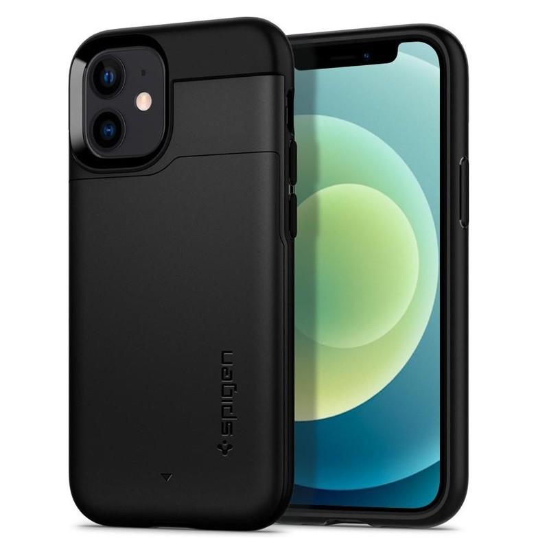 Spigen - Slim Armor CS iPhone 12 Mini 5.4 inch zwart 06