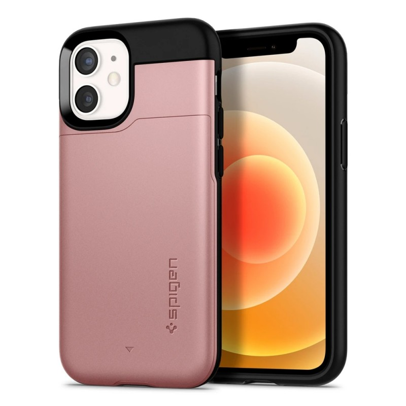 Spigen Slim Armor CS iPhone 12 Mini Roze - 1