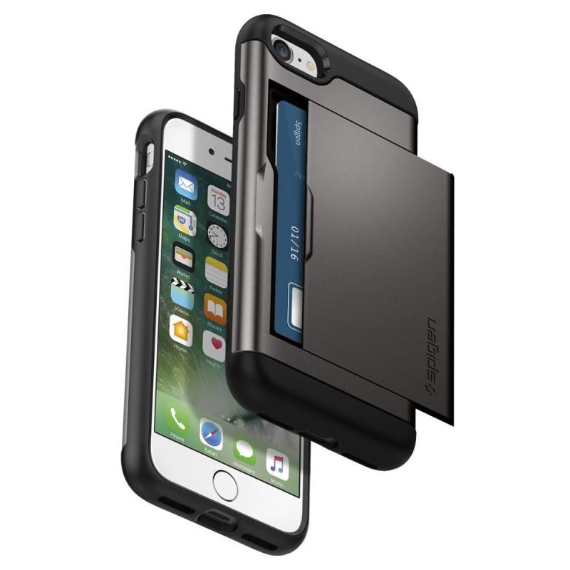 Spigen Slim Armor CS iPhone SE (2020)/8/7 Hoesje Gunmetal - 3