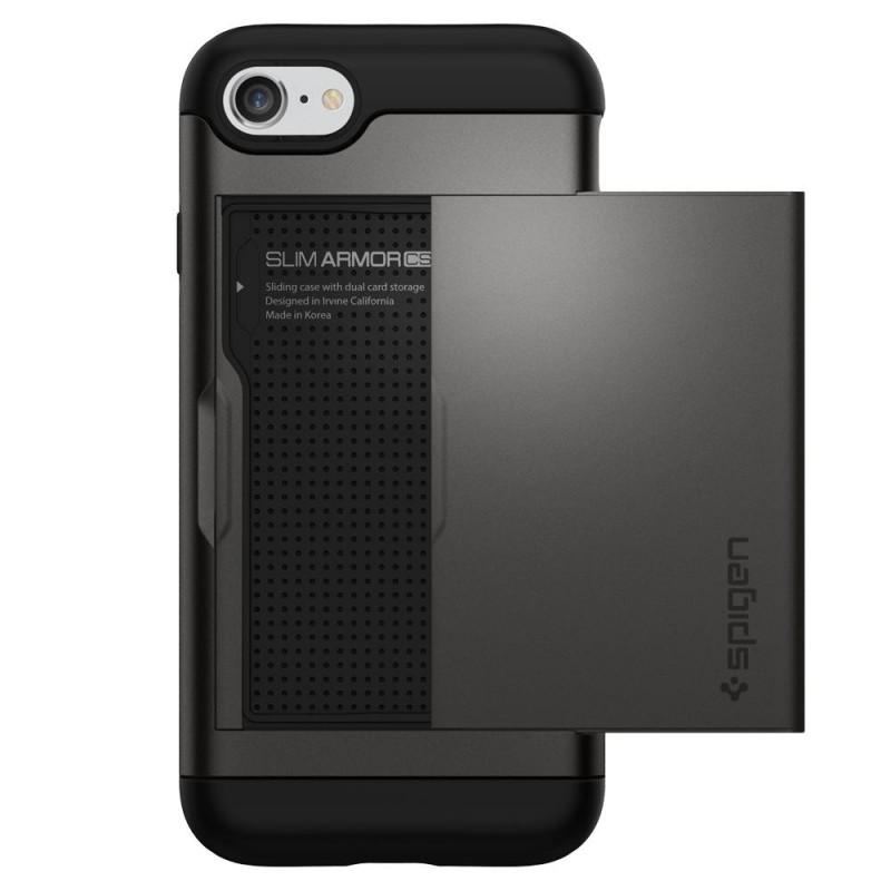 Spigen Slim Armor CS iPhone SE (2020)/8/7 Hoesje Gunmetal - 6