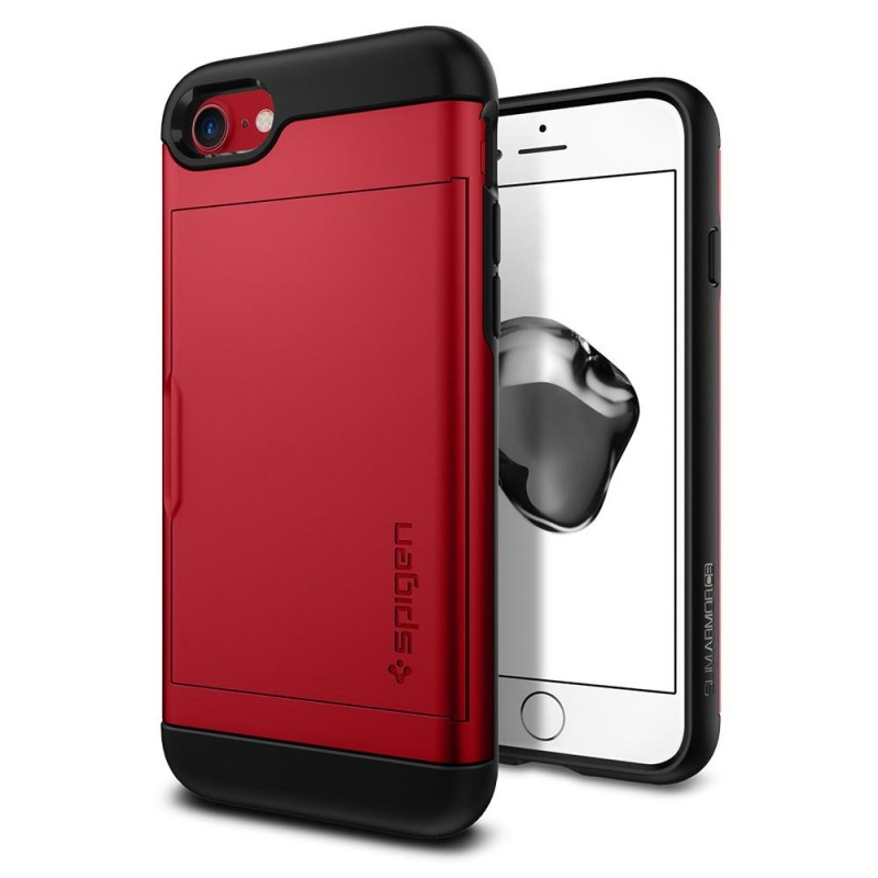 Spigen Slim Armor CS iPhone 8/7 Hoesje Rood - 1
