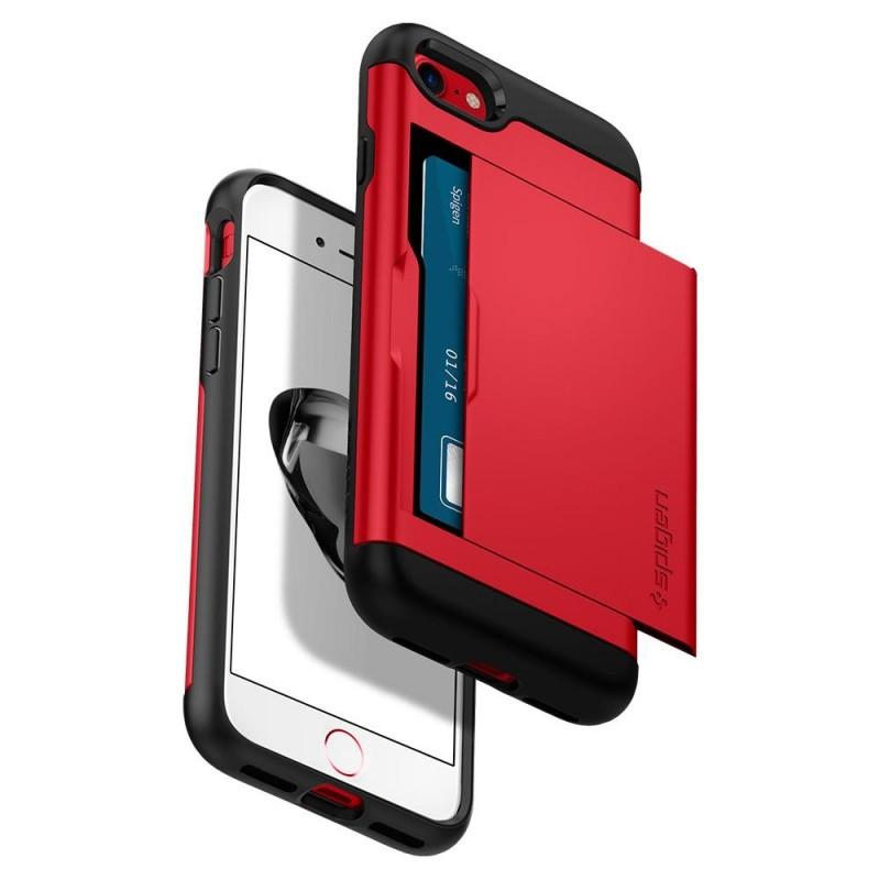 Spigen Slim Armor CS iPhone 8/7 Hoesje Rood - 2