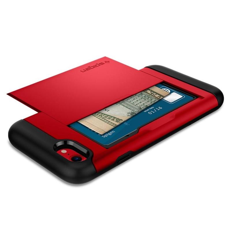 Spigen Slim Armor CS iPhone 8/7 Hoesje Rood - 3
