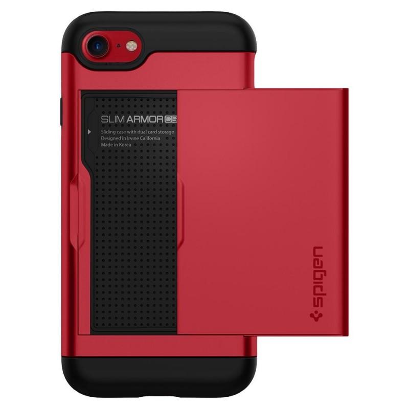 Spigen Slim Armor CS iPhone 8/7 Hoesje Rood - 5