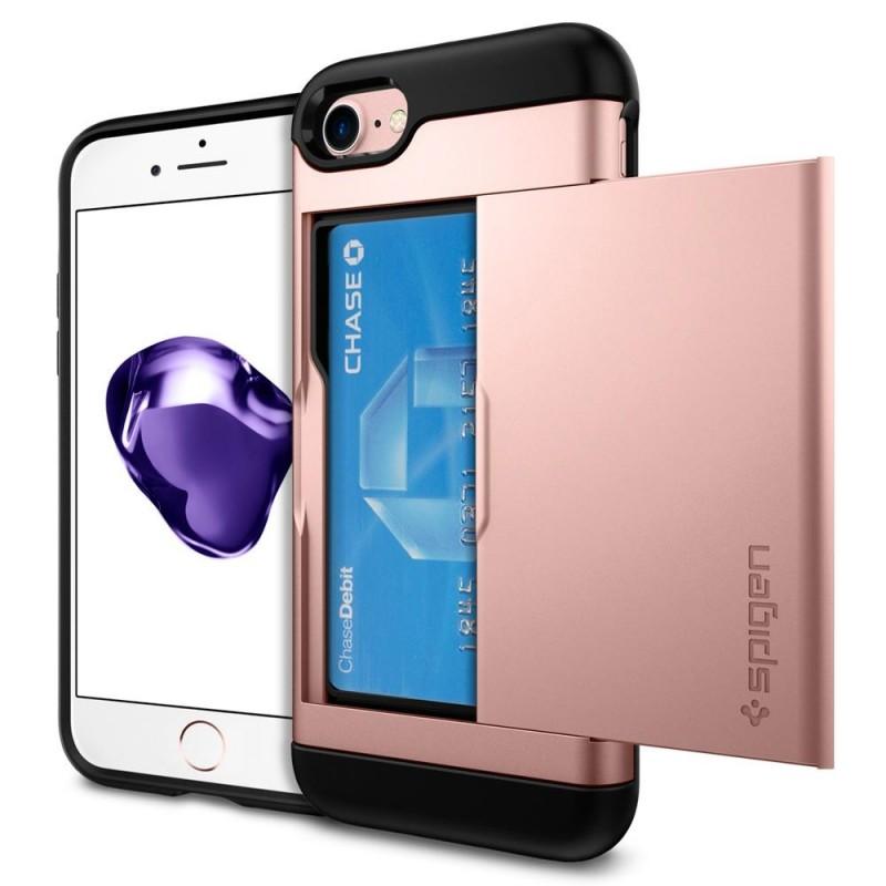Spigen Slim Armor CS iPhone 8/7 Hoesje Rose Goud - 1