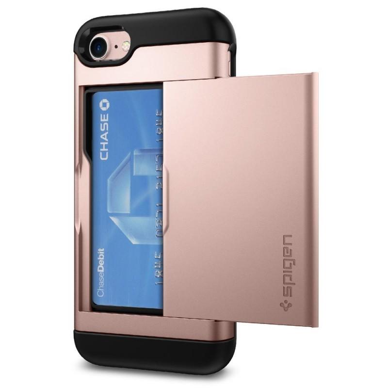Spigen Slim Armor CS iPhone 8/7 Hoesje Rose Goud - 2