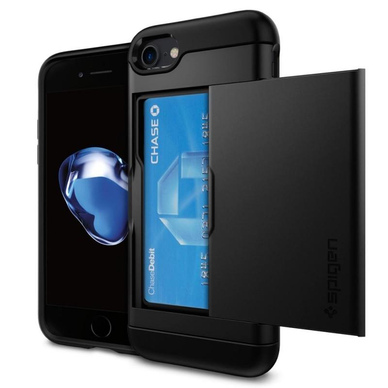 Spigen Slim Armor CS iPhone 8/7 Hoesje Zwart - 1