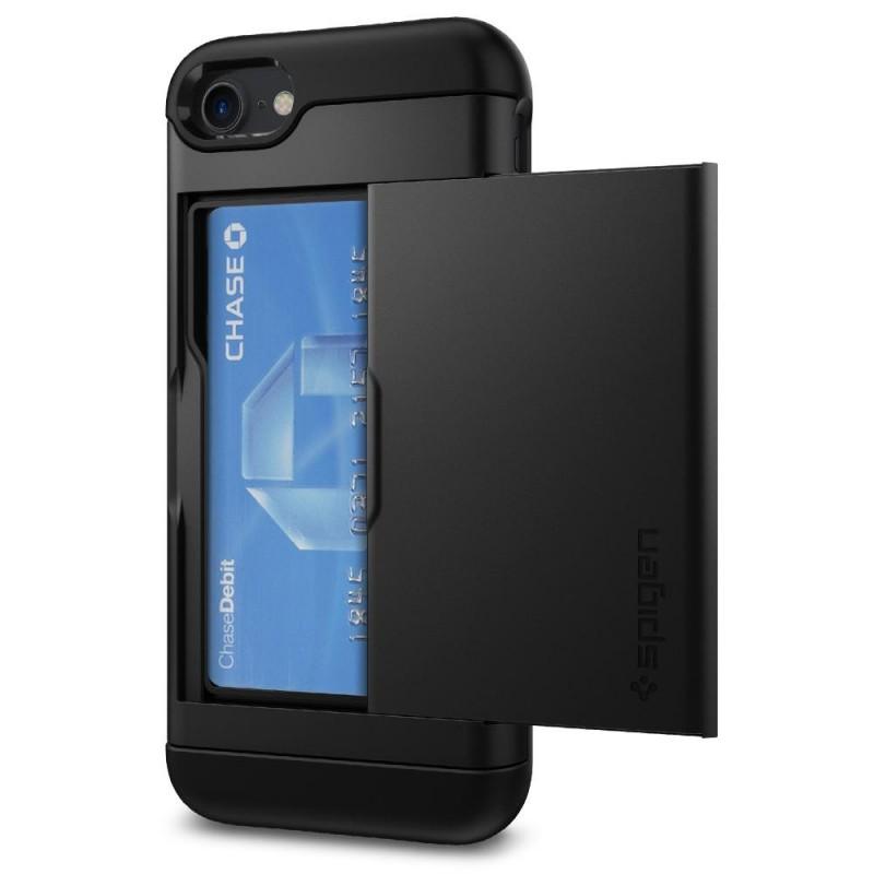 Spigen Slim Armor CS iPhone 8/7 Hoesje Zwart - 2