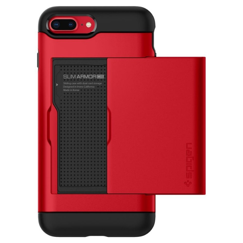 Spigen Slim Armor CS iPhone 8 Plus/7 Plus Rood - 2