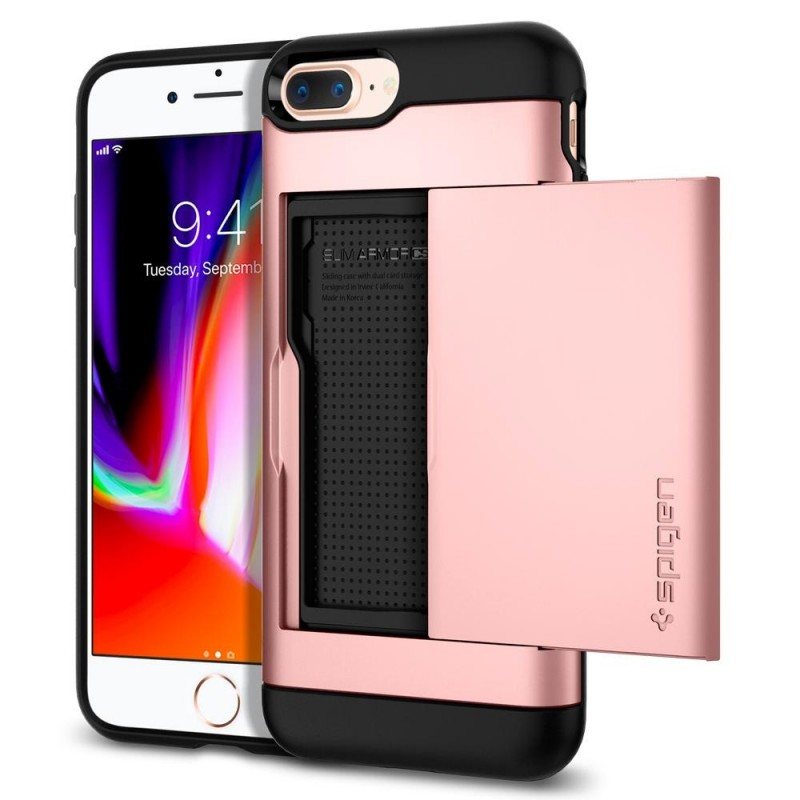 Spigen Slim Armor CS iPhone 8 Plus/7 Plus Rose Goud - 1