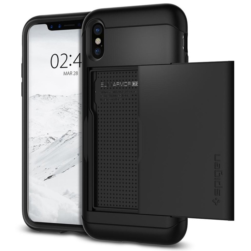 Spigen - Slim Armor CS iPhone 8 Hoesje Black 01