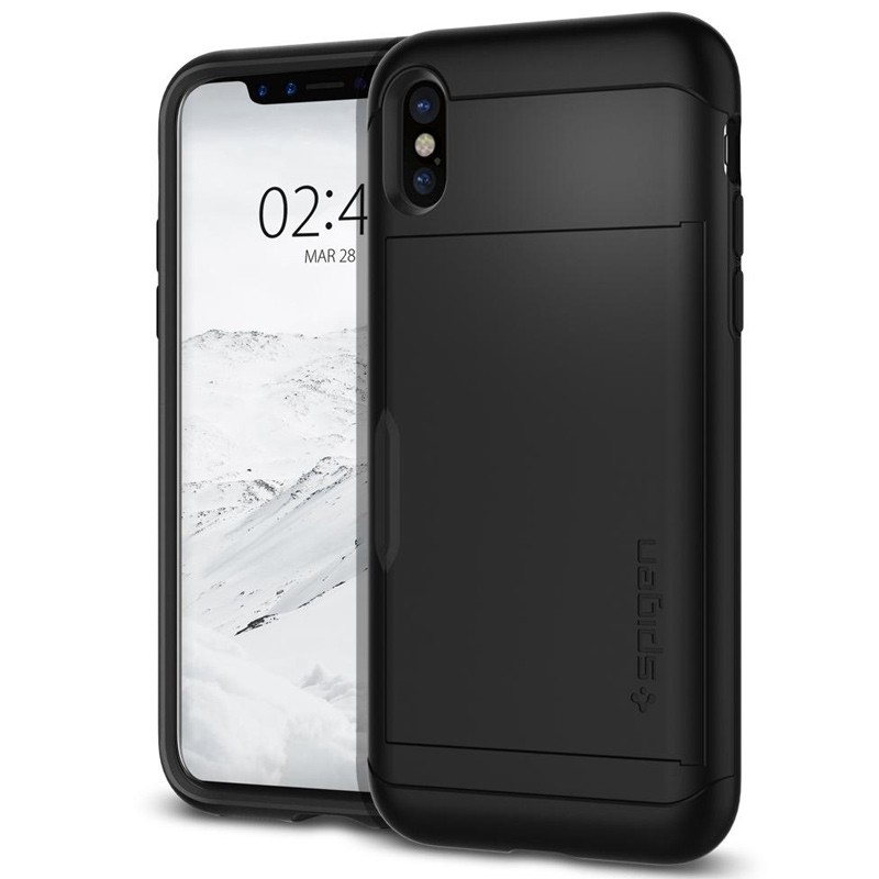 Spigen - Slim Armor CS iPhone 8 Hoesje Black 02
