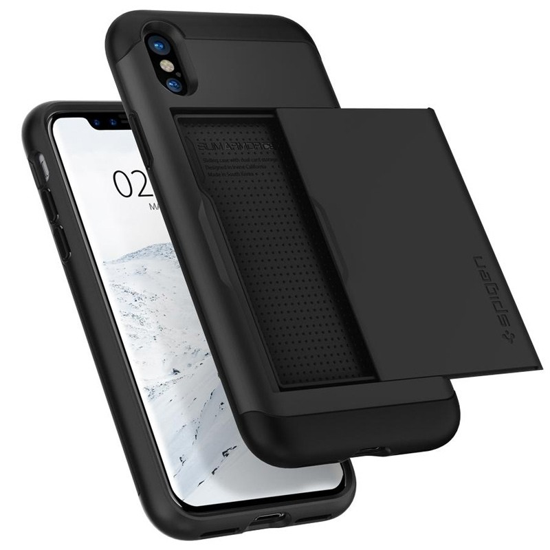 Spigen - Slim Armor CS iPhone 8 Hoesje Black 04