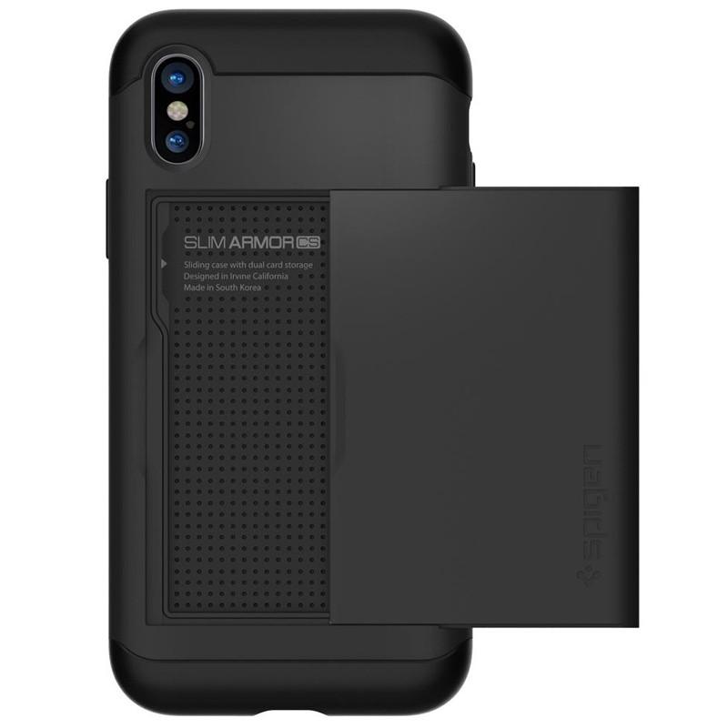 Spigen - Slim Armor CS iPhone 8 Hoesje Black 06