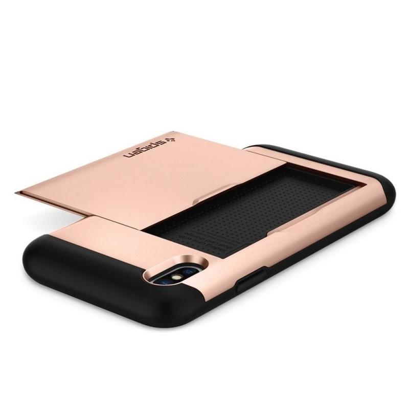 Spigen Slim Armor CS iPhone X/Xs Hoesje Roze Zwart 02