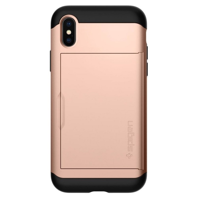 Spigen Slim Armor CS iPhone X/Xs Hoesje Roze Zwart 04