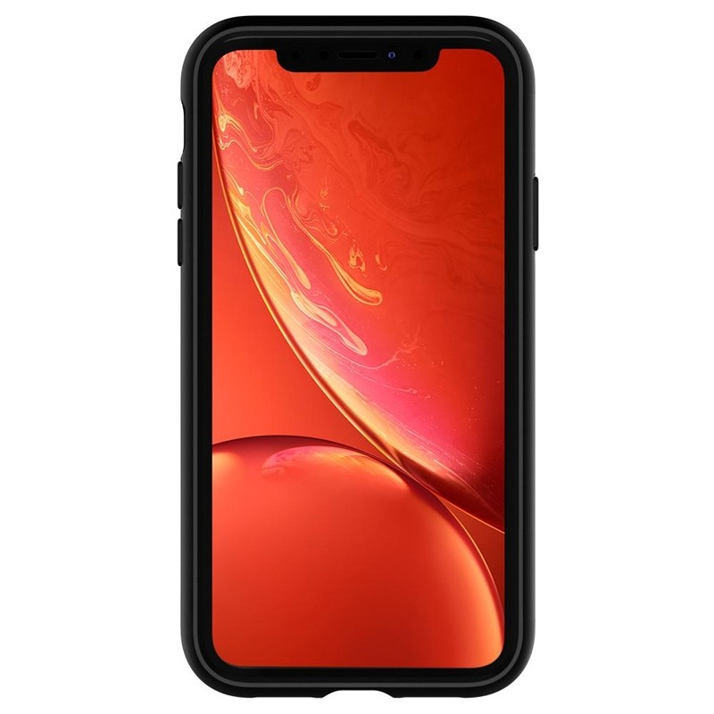 Spigen Slim Armor CS iPhone XR Hoesje Roze Zwart 06