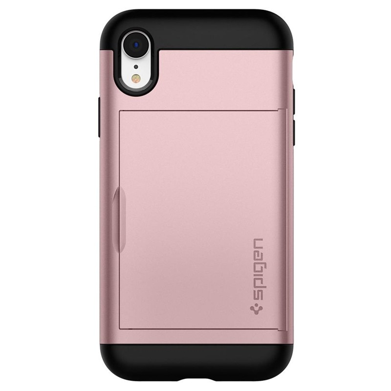 Spigen Slim Armor CS iPhone XR Hoesje Roze Zwart 05