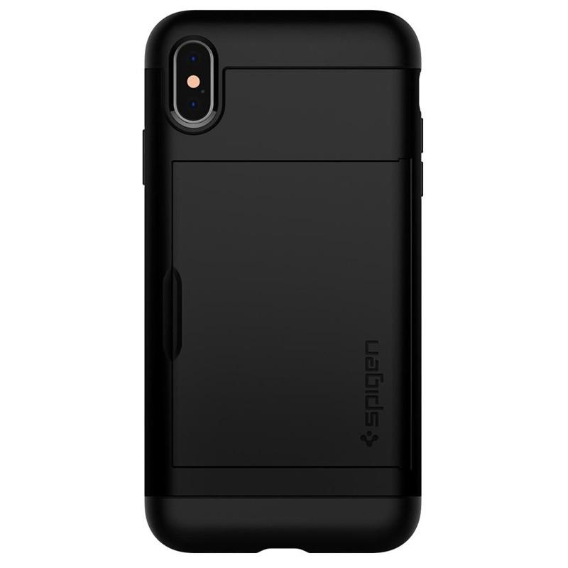 Spigen Slim Armor CS iPhone XS Max Hoesje Zwart 02