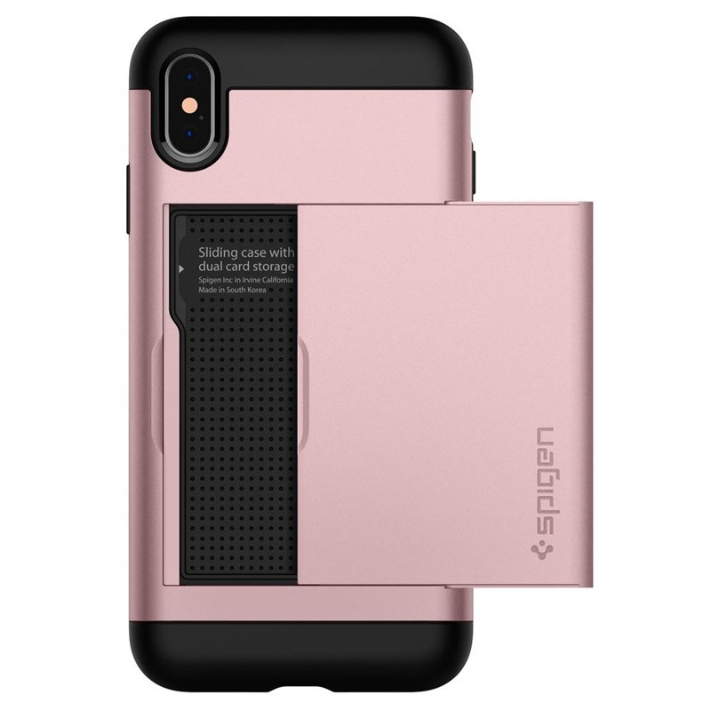 Spigen Slim Armor CS iPhone XS Max Hoesje Roze 01